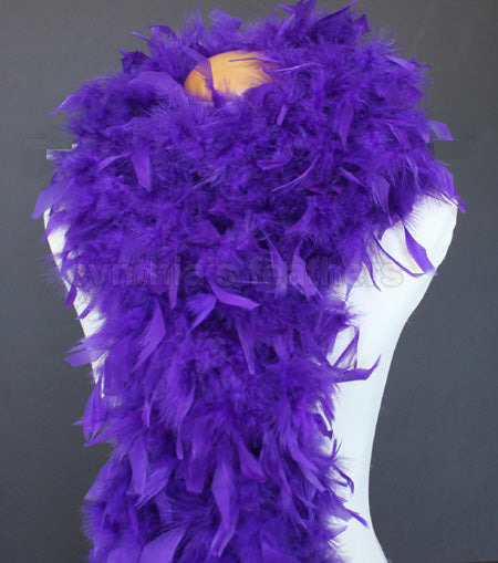 80 Grams Regal Purple Chandelle Feather Boa