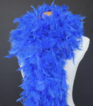 80 Grams Royal Blue Chandelle Feather Boa
