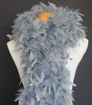 80 Grams Silver Grey Chandelle Feather Boa