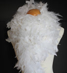 80 Grams White with Gold Tinsel Chandelle Feather Boa