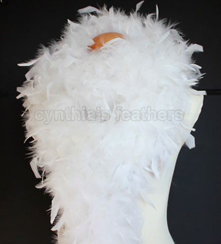80 Grams White Chandelle Feather Boa
