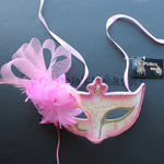 Venetian Mask, Dusty Rose  Floral Venetian  Masquerade Mask 8G8A SKU: 6C51