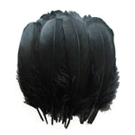 Goose Feathers, Black Goose Nagoire Feathers Crafting Decoration Halloween Costume SKU: 7D43