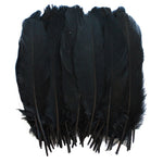 Goose Feathers, Black Goose Satinettes Feathers Crafting Decoration Halloween Costume SKU: 7I13