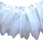 Goose Feather Trim White Goose Nagoire and Satinettes Feather Trim 1 Yard  SKU: 7I11