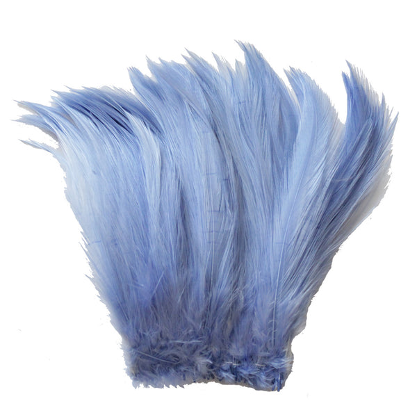 "5-7"" Light Blue Rooster Hackle Feathers for Crafting, Headpiece,  7.5 Grams"