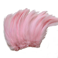 "5-7"" Baby Pink Rooster Hackle Feathers for Crafting, Headpiece,  7.5 Grams"