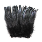 "5-7"" Black Rooster Hackle Feathers for Crafting, Headpiece,  7.5 Grams"