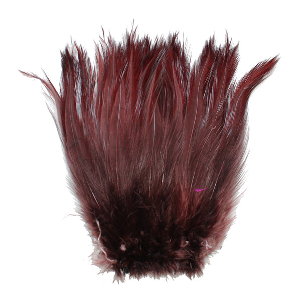 "5-7"" Brown Rooster Hackle Feathers for Crafting, Headpiece,  7.5 Grams"