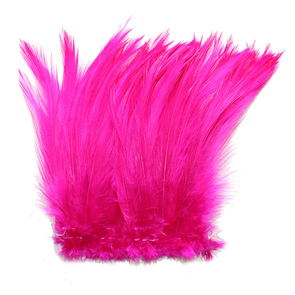 "5-7"" Fuschia Rooster Hackle Feathers for Crafting, Headpiece,  7.5 Grams"