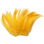 "5-7"" Gold Yellow Rooster Hackle Feathers for Crafting, Headpiece,  7.5 Grams"