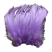 "5-7"" Lavender Rooster Hackle Feathers for Crafting, Headpiece,  7.5 Grams"