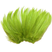 "5-7"" Lime Green Rooster Hackle Feathers for Crafting, Headpiece,  7.5 Grams"