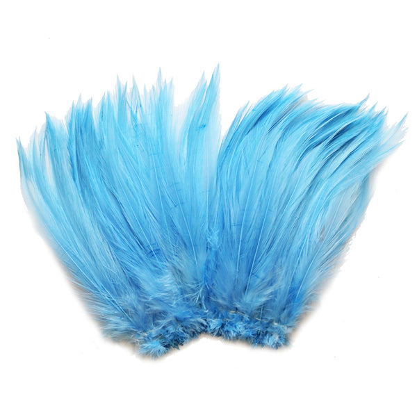 "5-7"" Periwinkle Rooster Hackle Feathers for Crafting, Headpiece,  7.5 Grams"