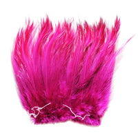 "5-7"" Purple Plum Rooster Hackle Feathers for Crafting, Headpiece,  7.5 Grams"