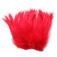 "5-7"" Red Rooster Hackle Feathers for Crafting, Headpiece,  7.5 Grams"