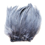 "5-7"" Silver Gray Rooster Hackle Feathers for Crafting, Headpiece,  7.5 Grams"