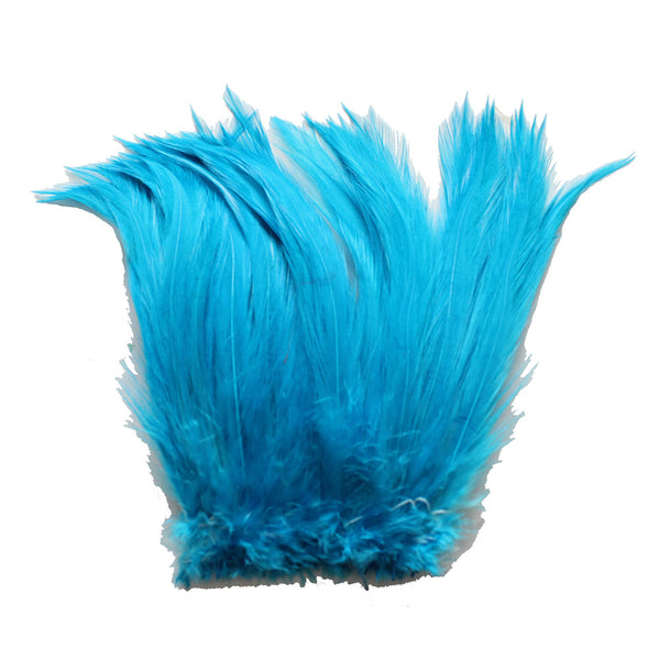 "5-7"" Turquoise Rooster Hackle Feathers for Crafting, Headpiece,  7.5 Grams"