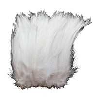 "5-7"" White Rooster Hackle Feathers for Crafting, Headpiece,  7.5 Grams"