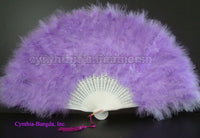 "Feather Fan, Lavender Marabou Feather Fan 11"" x 20"""