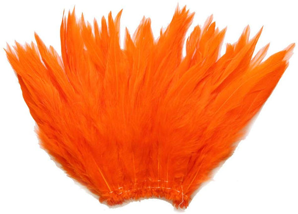"5-7"" Orange Rooster Saddle Feathers for Crafting, Headpiece,  ~9g, 0.32Oz"