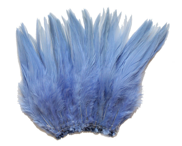 "5-7"" Light Blue Rooster Saddle Feathers for Crafting, Headpiece,  ~9g, 0.32Oz"