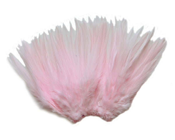 "5-7"" Baby Pink Rooster Saddle Feathers for Crafting, Headpiece,  ~9g, 0.32Oz"