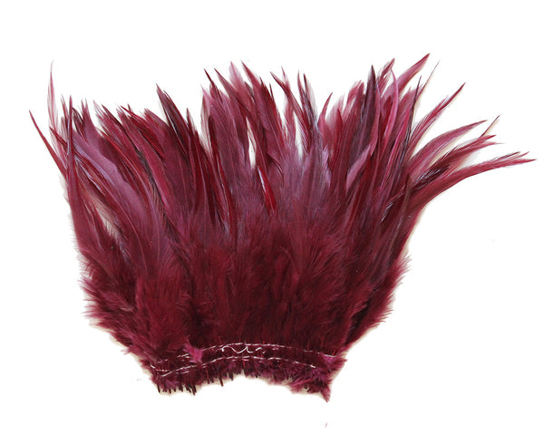 "5-7"" Burgundy Rooster Saddle Feathers for Crafting, Headpiece,  ~9g, 0.32Oz"