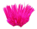"5-7"" Fuschia Rooster Saddle Feathers for Crafting, Headpiece,  ~9g, 0.32Oz"