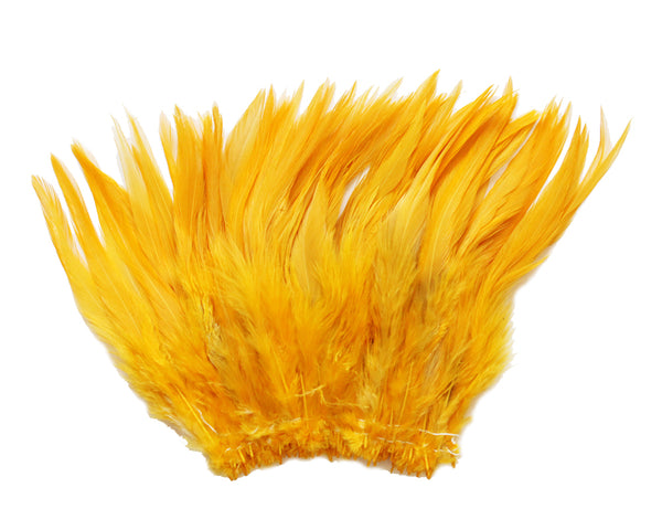 "5-7"" Gold Yellow Rooster Saddle Feathers for Crafting, Headpiece,  ~9g, 0.32Oz"