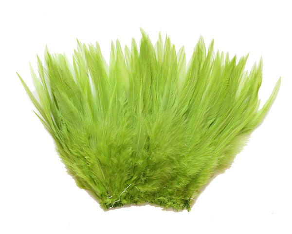 "5-7"" Lime Green Rooster Saddle Feathers for Crafting, Headpiece,  ~9g, 0.32Oz"