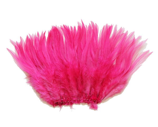 "5-7"" Mauve Pink Rooster Saddle Feathers for Crafting, Headpiece,  ~9g, 0.32Oz"