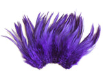 "5-7"" Purple Rooster Saddle Feathers for Crafting, Headpiece,  ~9g, 0.32Oz"