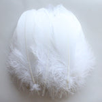 Goose Feathers, White Goose Nagoire Feathers Crafting Decoration Halloween Costume SKU: 7D43