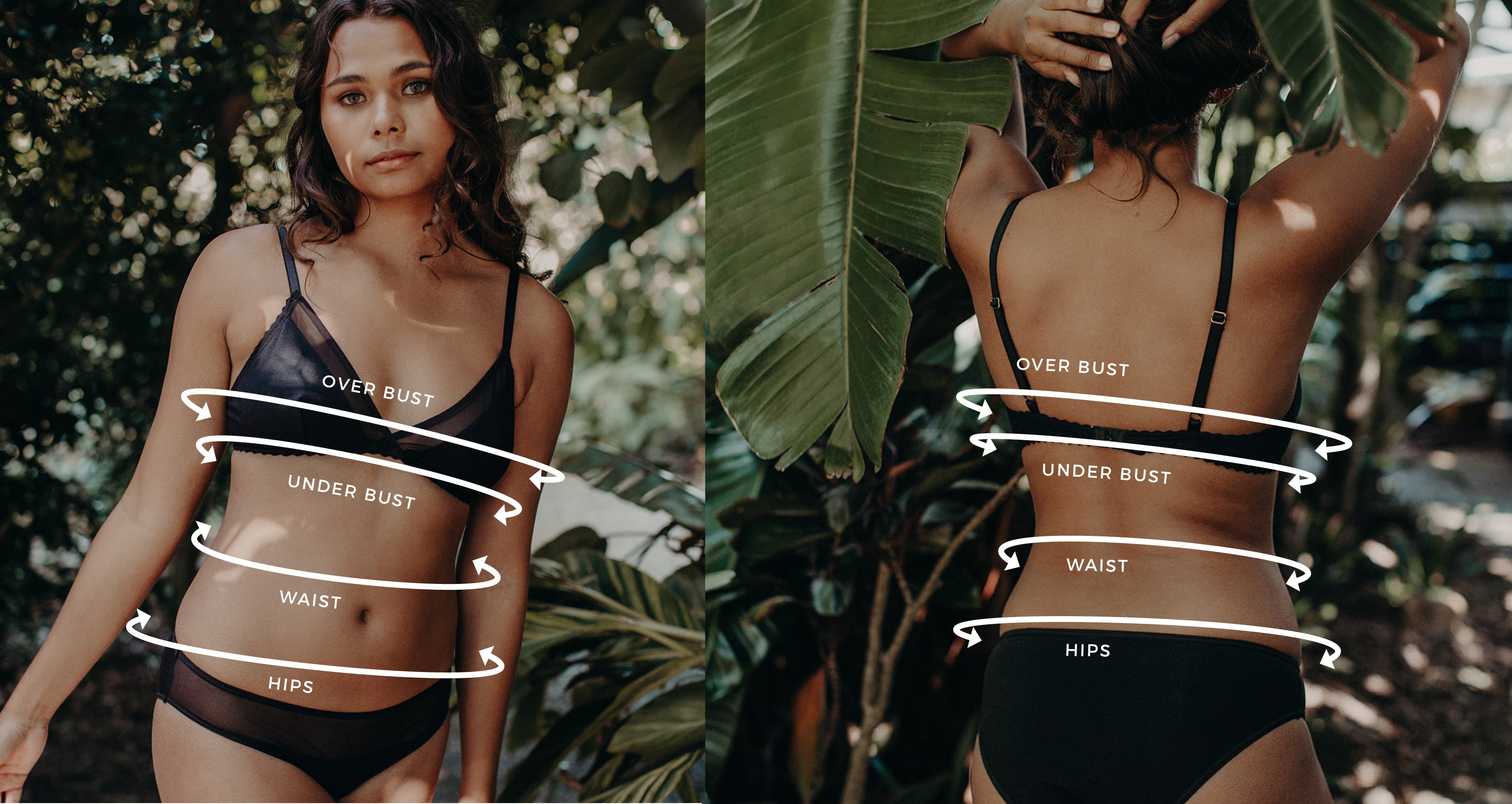 lingerie sizing guides