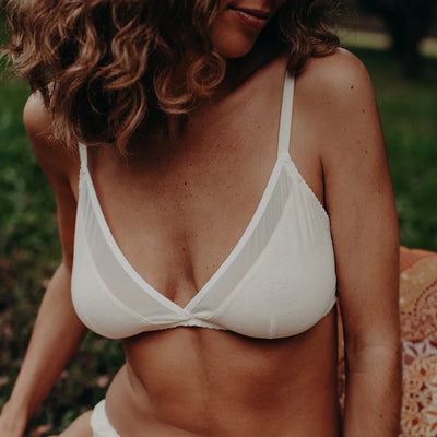 organic cotton bralette, natural underwear, soft cup bra, cotton lingerie