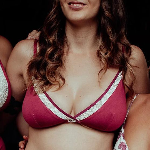 Kitty bralette in raspberry - Eco Intimates