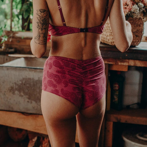 back view of soft cup bra, bralette, back view of organic cotton underwear