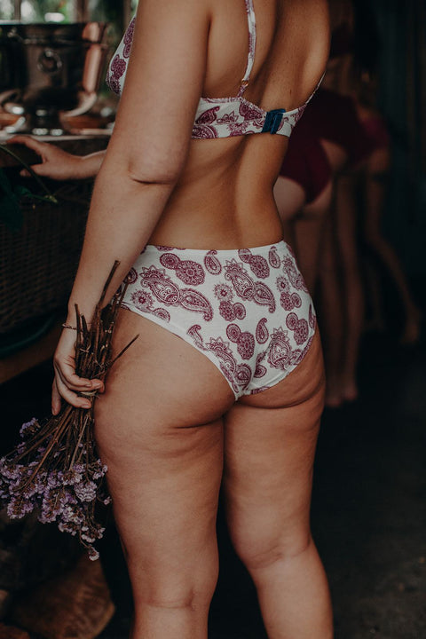 back view of organic cotton lingerie