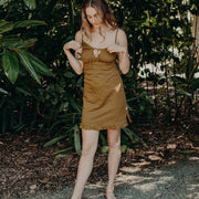 Marion organic cotton slip in cinnamon - Eco Intimates