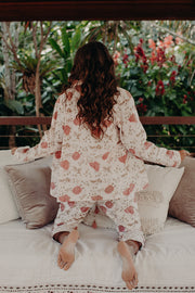 Aaliyah PJ shirt in chinoiserie