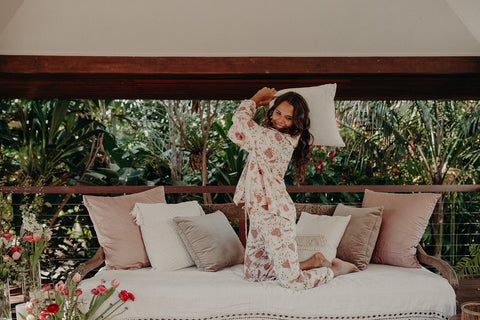 Genevieve PJ pants in chinoiserie