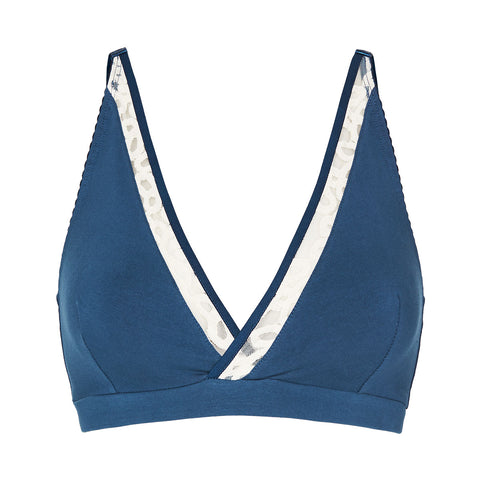 Ava bralette in french blue