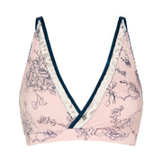 Ava Bralette in blush/navy