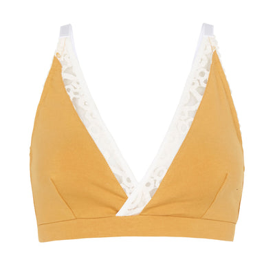 large bust bralette in organic cotton