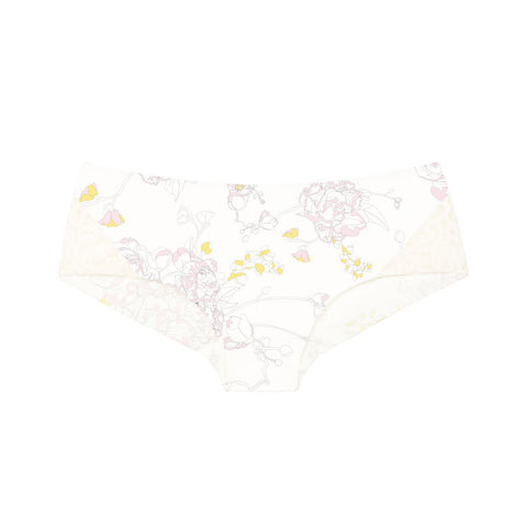 organic cotton boy leg knickers in peony floral print, cotton underwear, organic cotton knickers