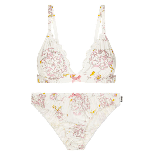 Bella bralette - bamboo in peony