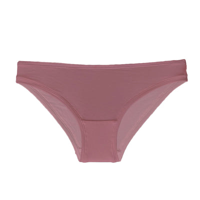 front view of bikini knickers in organic cotton in pink