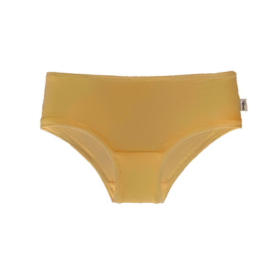 Mid-rise boyleg brief in marigold - Eco Intimates