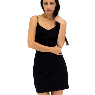 bamboo slip in black, bamboo/cotton, dress in bamboo,